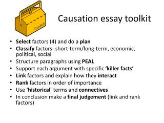 Causation essay toolkit