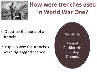 How were  trenches used in World War One?