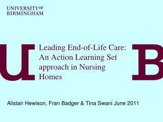 Leading End-of-Life Care: An Action Learning Set approach in Nursing Homes