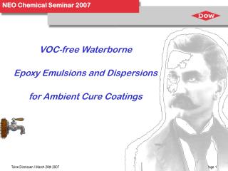 VOC-free Waterborne Epoxy Emulsions and Dispersions for Ambient Cure Coatings