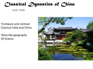 Classical Dynasties of China