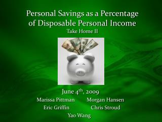 Personal Savings as a Percentage of Disposable Personal Income Take Home II