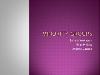 Minority Groups