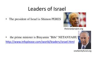 Leaders of  Israel