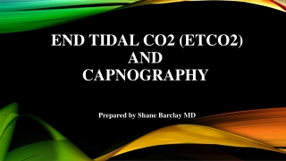 Capnography Trends in Procedural Sedation