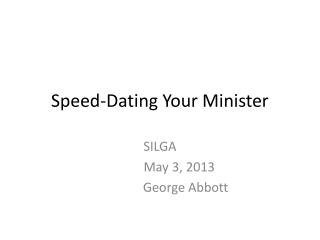 Speed-Dating Your Minister