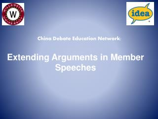 Extending Arguments in Member Speeches