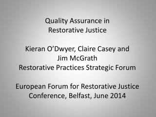 Restorative Practices Strategic Forum