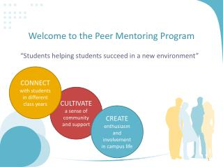 Welcome to the Peer Mentoring Program