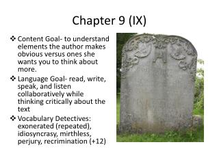 Chapter 9 (IX)