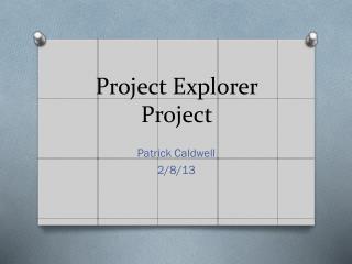 Project Explorer Project
