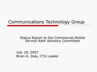 Communications Technology Group