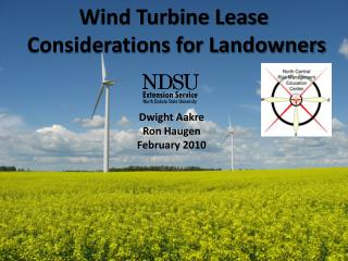 Wind Turbine Lease Considerations for Landowners