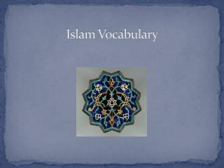Islam Vocabulary