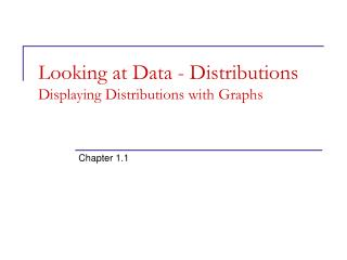 Looking at Data - Distributions Displaying Distributions with Graphs