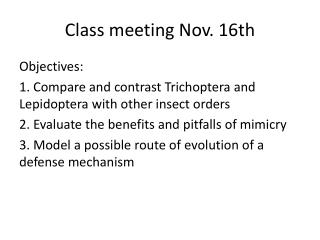 Class meeting Nov. 16th