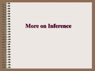 More on Inference