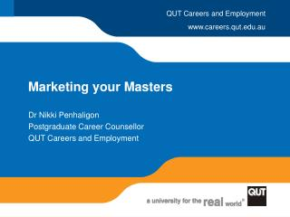 Marketing your Masters