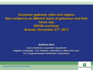 European  gateway  cities  and  regions
