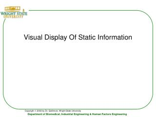 Visual Display Of Static Information