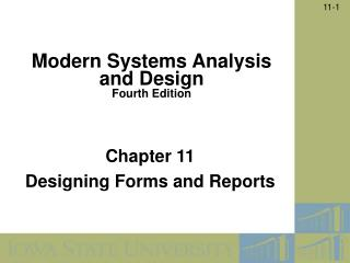 Chapter 11  Designing Forms and Reports