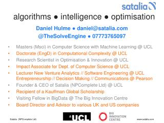 algorithms  ●  intelligence  ●  optimisation