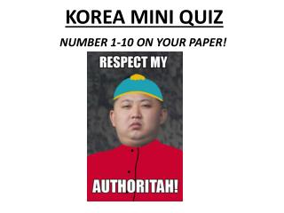 KOREA MINI QUIZ