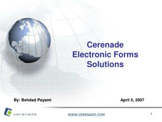 Cerenade Electronic Forms Solutions