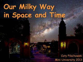 Our Milky Way  in Space and Time