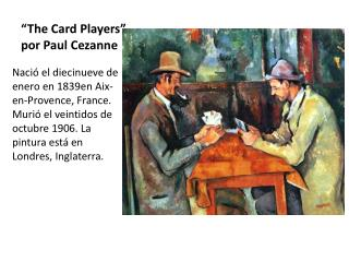 """The Card Players"" por Paul Cezanne"