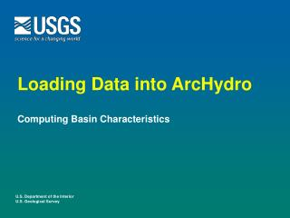 Loading Data into ArcHydro