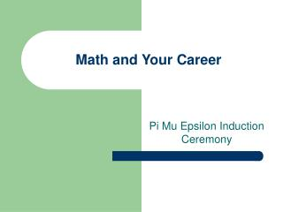 Math and Your Career