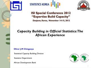 "ISI Special Conference 2012 ""Expertise Build Capacity"" Daejeon , Korea,  November 14-15, 2012"