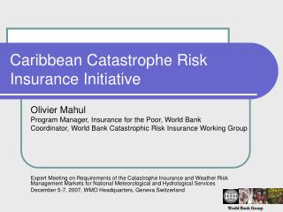 Caribbean Catastrophe Risk Insurance Initiative