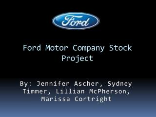 Ford Motor Company Stock  Project
