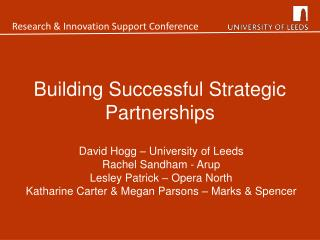 Building Successful Strategic Partnerships