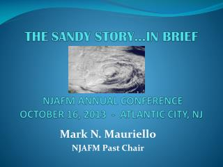 THE SANDY STORY…IN BRIEF  NJAFM ANNUAL CONFERENCE  OCTOBER 16, 2013  -  ATLANTIC CITY, NJ