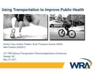 Transport and Health