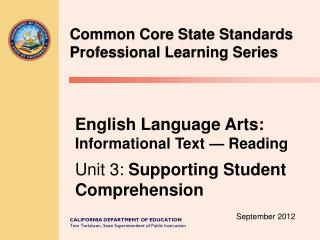 Common Core  State Standards  Professional Learning  Series