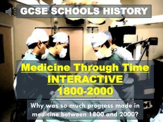 GCSE SCHOOLS HISTORY