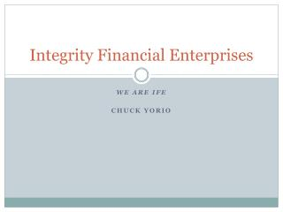 Integrity Financial Enterprises