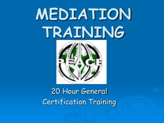MEDIATION TRAINING