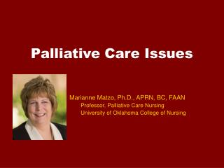 Palliative Care Issues