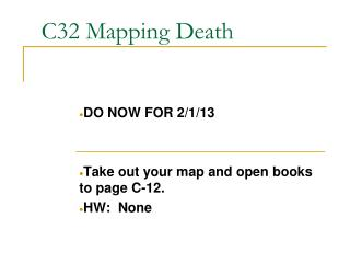 C32 Mapping Death