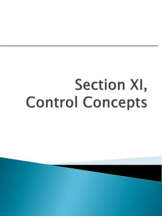 Section XI,  Control Concepts