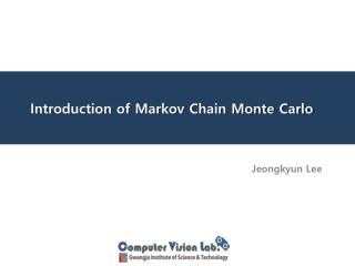 Introduction of Markov Chain Monte Carlo