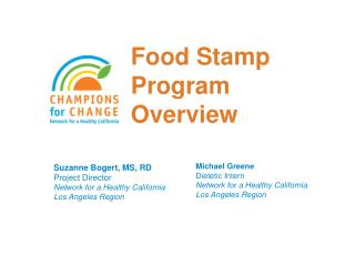 Food Stamp Program Overview