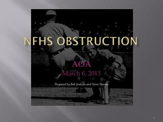 NFHS OBSTRUCTION