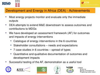 Development and Energy in Africa (DEA) - Achievements