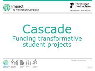 Cascade Funding transformative student projects